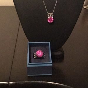 Jewelry - Lab created pink sapphire ring
